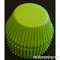 100 Lime Green Cupcake Liners Baking Cups STANDARD SIZE - B00F2VARUA