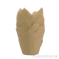 50Pcs Tulip Style Baking Cups Cupcake Muffin Paper Liners Wrappers for Weddings Birthdays Baby Showers Gold One Size - B07D3S741C