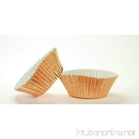 "50pc 2"" B X 1 1/8"" W Copper Foil Cupcake Baking Cup With Greaseproof Liner - B01BDY9K9I"