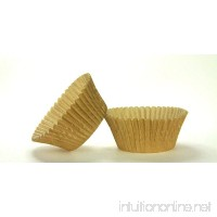 50pc Solid Gold Color Standard Size Cupcake Baking Cups Liners Wrappers - B01BDYAZNS
