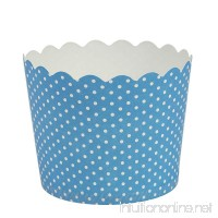 Blue Sky 1256 16 Count Scalloped Polka Dots Cupcake Baking Cups  Large  Blue - B00V86RA94