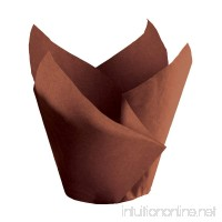 Hoffmaster 611117 Tulip Cup Cupcake Wrapper/Baking Cup 2 Diameter x 3-1/2 Height Small Chocolate (Pack of 1000) - B00BSGXGYC