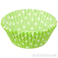 Jubilee Sweet Arts 50 Count Baking Cups Standard Lime Green Polka Dot - B00M2M47EY