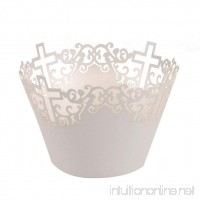 NUOLUX 50pcs Cupcake Wrappers Muffin Cases Baking Cup Case Trays (White) - B01JU5C1CA