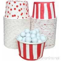 Outside the Box Papers Stripe and Polka Dot Candy Nut Cups 48 Pack Red  White - B017CV15D0