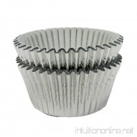 Regency Wraps Baking Cups for Cupcakes and Muffins  32-Count  Standard  Festive Silver Foil - B001AQNSMK