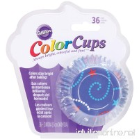 Wilton ColorCups Blue Celebrate Standard Baking Cups  36 Count - B007ISQ268