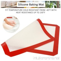 2 Piece Silicone Baking Mat  SiFREE silicone baking sheet cooking mat for Macaron Pastry Cookie Bread - B079LHMWFN