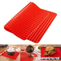 Ahyuan Silicone Healthy Cooking Baking Mat for baking Non-stick Great Mother's Day Gift (Red) - B071SKJFRL