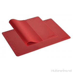 Cake Boss Countertop Accessories 2-Piece Silicone Baking Mat Set Red - B00FR6D0ZO