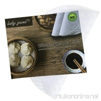 Lucky Gourd Reusable Non-Stick Silicone Steamer Pad Mesh Round Dumplings Mat Pack of 4 (7 Inch/18 CM) - B01M1L5SC7