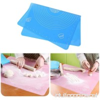 Meflying Silicone Pastry Mat Square Food Grade Silicone Mat Cake Pastry Kitchen Baking Tool (Blue) - B07G795Z33