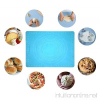 "NEW JJMG Non-Stick Rolling Silicone Rubber Baking Mat for Cookies  Pasta  Pizza  Cakes and Pastries with Measurements (Blue 20"" X 16"") - B01JE51RIK"