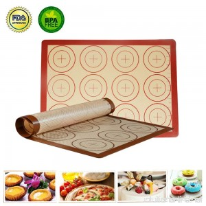 Non Stick Silicone Baking Mat BPA Free FDA Approved Non Toxic Baking Mats With Measurement For Baking Kneading Rolling Including 2 Piece Baking Mats - B07D57VN7S