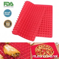 Pyramid Pan Silicone Baking Mat - Nonstick Reusable Pyramid Pan 1PCS - Heat Resistant Roasting Cooking Mat Fat Reducing Silicone Mats for Healthy Cooking (Red) - B0789C9H71