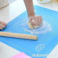 "Silicone Baking Mat 19.7"" x 15.7"" - Non-Stick Baking Mat for Housewife  Cooking Enthusiasts pasta boards Pastry Mat  Heat Resistant Nonskid Table Mat (Blue) - B0797QD6VC"