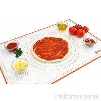 Silicone Pastry Mat with Measurements  Full Sticks To Countertop For Rolling Dough  Perfect Fondant Surface. - B07CQZ72YX