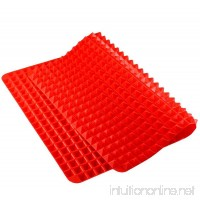 Silicone Pyramid Baking Mat  Pastry with Fat Reducing Healthy Cooking Heat-Resistant Non-stick for Oven Grilling BBQ (1  Red) - B06XQ7K47C