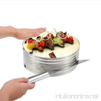 Layer Cake Slicer UTEN Ajustable Stainless Steel Cake Slicer Mold Round Baking Kit,9 to 12 Inches - B076BJZ7LD