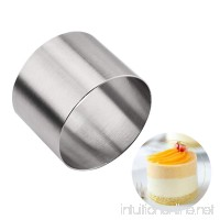 YIJIA Stainless Steel Mousse Cake Ring 2 inch Circle Round Smoother Decorating Scraper Cutter - B078JQPPVP