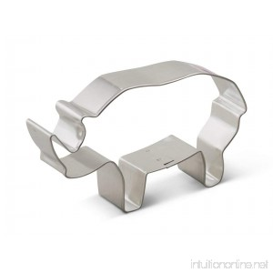 Ann Clark Rhino Cookie Cutter - 4.75 Inches - Tin Plated Steel - B00KJ8IA78