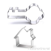 GXHUANG Key and House Sugar Cookie Cutters Set - Stainless Steel - B074W2N246