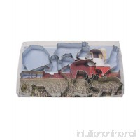 R&M International 1939 Farm Theme Cookie Cutters  Tractor  Cow  Chick  Barn  Rooster  Horse  Pig  7-Piece Set - B00K6F31Y6