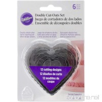 Wilton 417-2588 6-Piece Nesting Fondant Double Sided Cut Out Cutters  Hearts - B00IE71PJ6