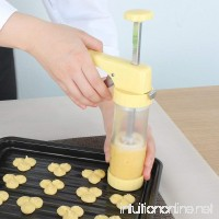 Ourokhome Cookie Press Icing Gun - Biscuit Maker with 16 Discs and 6 Cake Decoration Tips (Yellow) - B07DB5TFG1