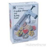 R&M International 2088 Cookie Press And Icing Gun Set Includes 13 Cutting Discs 12 Icing Nozzles and 6 Decorating Stencils - B0027CU1TO