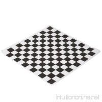 Black and White Checkered Food Grade Wax Coated Paper  100 Pack - B01N9TEKNQ