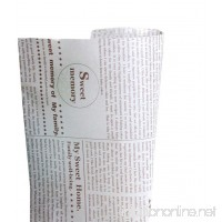 Novelty Newspaper Baking Papers Candy Cookies Packaged Papers 50 Pcs - B00NFHDTB2