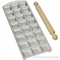 Eppicotispai 24-Hole Aluminum Square Ravioli Maker with Rolling Pin - B0047T6V6C