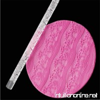Patterned Embossing Decorating Rolling Pin  Transparent Acrylic Cake Dough Roller Stick  Cookie Fondant Gumpaste Sugarpaste Emborssed Rolling Pin Baking Tools - 16cm - B06ZY3CCQN