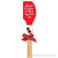Brownlow Gifts Buddies Silicone Spatulas  Food and Friendship (Set of 2) - B01CNLO67G
