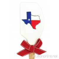 Brownlow Gifts Silicone Spatula with Wooden Handle  Texas Flag - B01CNLO3BU