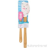 Core Kitchen Bamboo Large and Mini Painted Silicone Spatula Pineapple and Pink Flamingos with Palm Trees - B071WX9P26