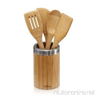 FURINNO 5 Piece Dapur Bamboo Cooking Utensil Set with Holder Natural - B01MQTU071