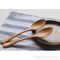Wood Spoons Soup Spoon Tableware Natural Wooden Coffee Tea Spoon 5 Pieces - B073ZZZ82X
