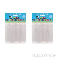 2 Set of 12 Unique Industries Mini Clear Plastic Tongs bundled by Maven Gifts - B07DNGTG65