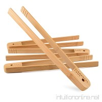 All Natural Bamboo Toast Tong by Elemental Home - 100% Natural Eco-Friendly Non-Toxic and Safe 12 Inch Bamboo Tong Dont Burn Your Fingers on the Toaster! (4-Pack) - B06XHG1W2M