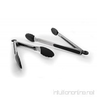 Oneida Stainless Steel Kitchen Tongs with Silicone Head  Set of 2 - B07773HB7G