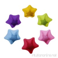 10 Pack Reusable Silicone Cupcake Liners Muffin Cups Baking Cups BPA Free Food Grade Star Shape - B00E5B78O6