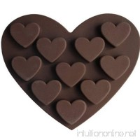 Dealglad Heart Shaped 3D Silicone Cake Fondant Chocolate Pudding Ice Cube Soap Decorating Baking Tray Mold - B00XL5AV0A