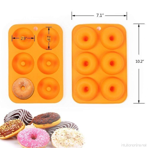 Ainest Silicone Baking Donut Doughnut Cake Chocolate Soap Jelly Mold Mould Pan Tool 6L 8 cavity