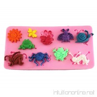 Longzang Insect Little Animals Art Deco Silicone Mold Sugar Craft DIY Gumpaste Cake Decorating Clay - B00RJJ2GNE