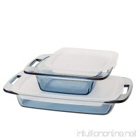 Pyrex Atlantic 4 Piece Value Pack Bakeware Set  Blue/Clear - B01BKCQSF2