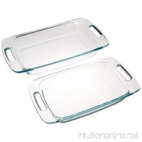 Pyrex Easy Grab 2-Piece Oblong Glass Bakeware Dishes - B005JCYUFU
