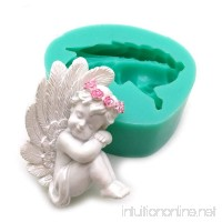 Silicone fondant cake Cupid Little Angel molds cake decoration chocolate mold mini style candy clay - B076D4M57R