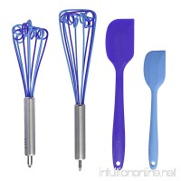 E4U Heat Resistant Stainless Steel Non-Stick Silicone Whisks  Cyclone (Pack of 2) - B06XZ7HZ66